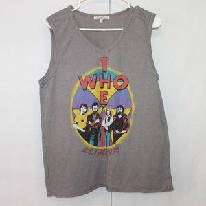 Junk Food Women's Large The Who U.S. Tour '76 Tank